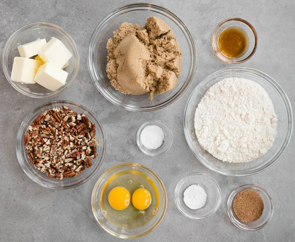 ingredients to make the best blondie recipe