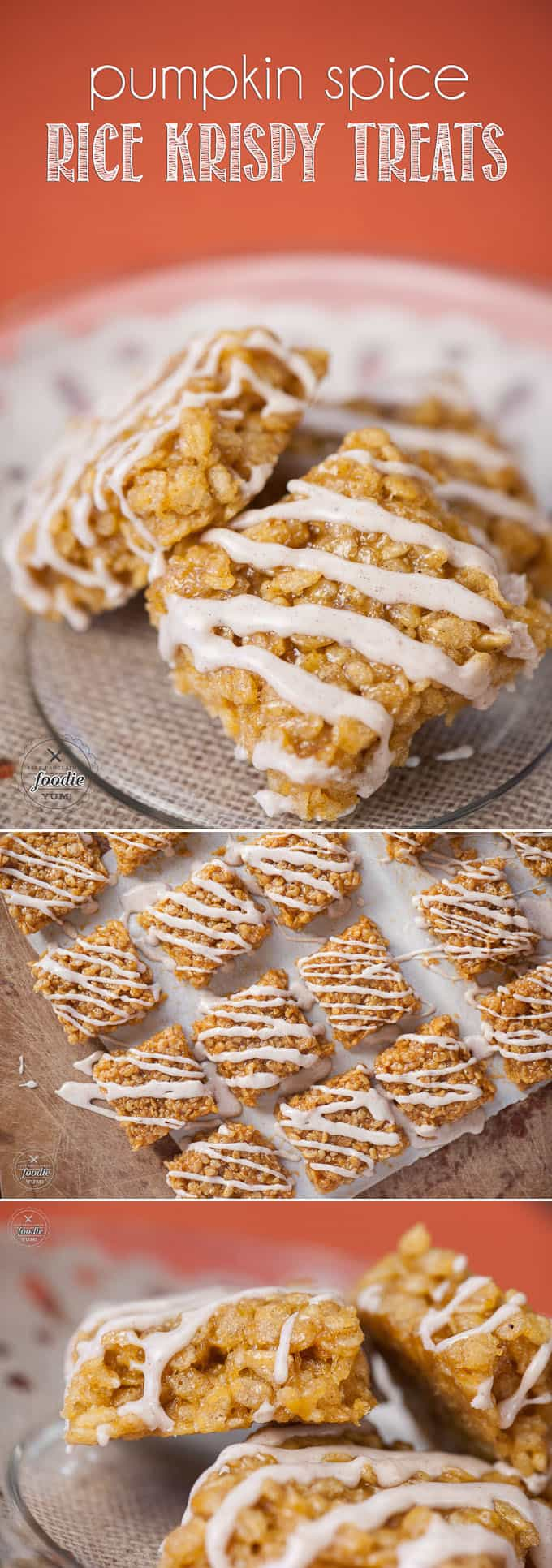 Transform one of your favorite classic desserts into a fall favorite by making these super chewy and sweet Pumpkin Spice Rice Krispy Treats.