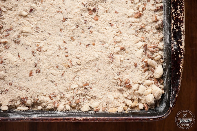 crumb pecan topping for pumpkin coffee cake