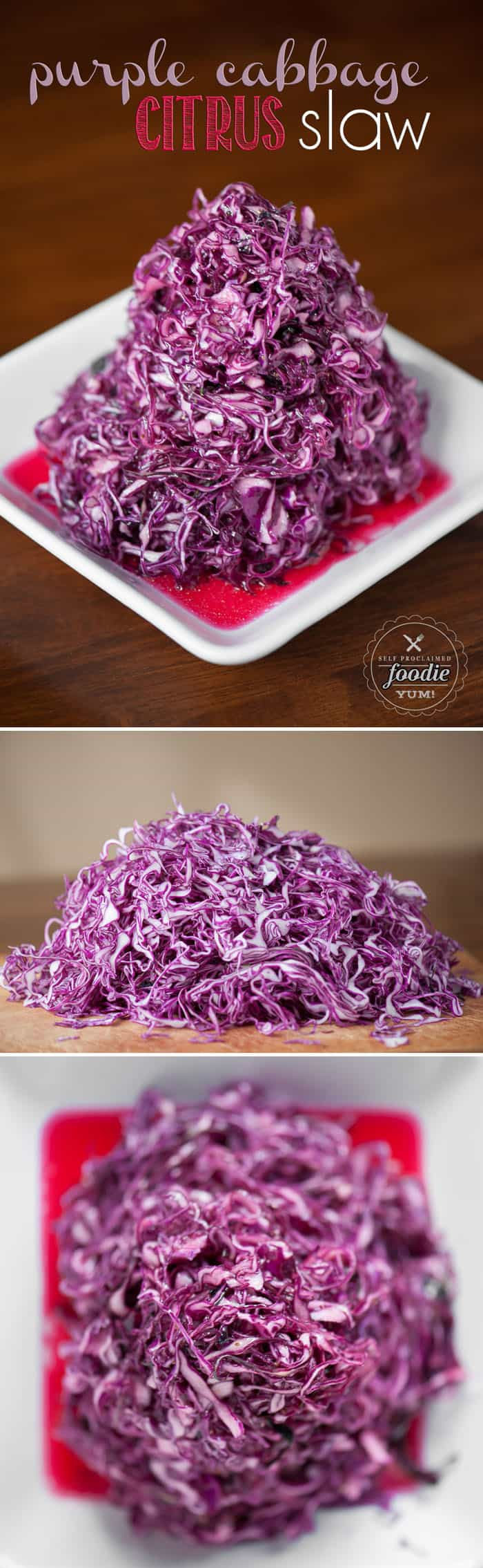 This light and fresh Purple Cabbage Citrus Slaw made without mayonnaise is the perfect healthy side dish. Its delicious and vibrant.