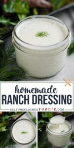 how to make homemade buttermilk ranch dressing recipe