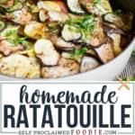 homemade vegan Ratatouille recipe