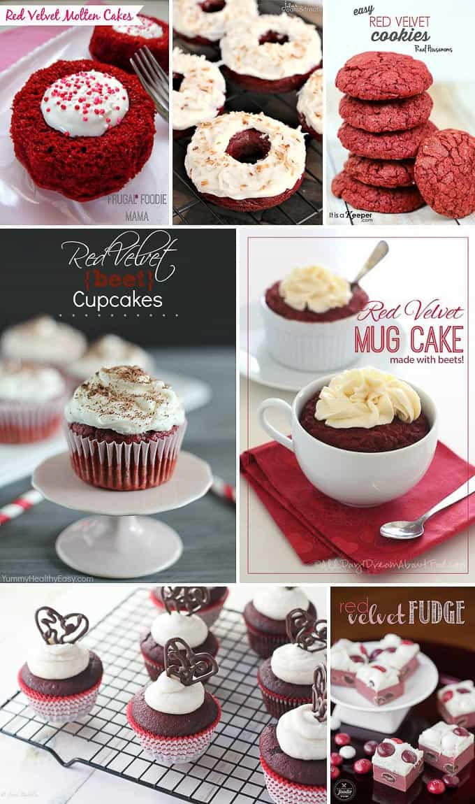 I've rounded up delicious and romantic recipes for 25 Valentine's Day Treats featuring heart shaped food as well as red velvet, chocolate and berries.