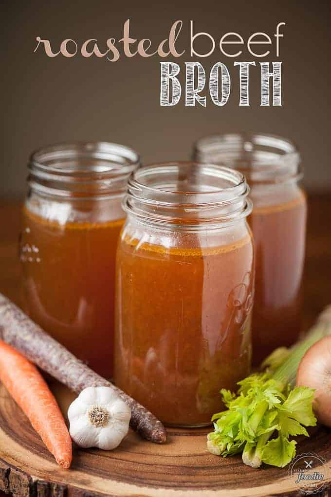 Roasted Beef Broth | Self Proclaimed Foodie