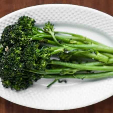 a close up of broccolini