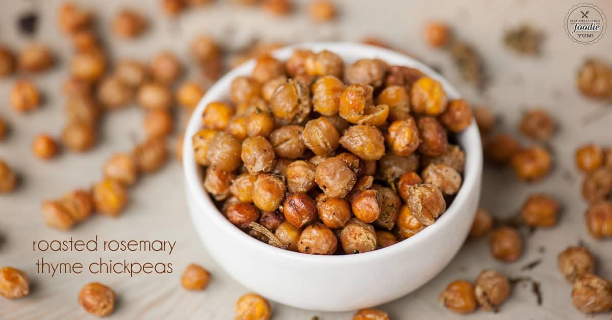 Roasted Rosemary Thyme Chickpeas | Self Proclaimed Foodie