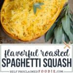 oven roasted Spaghetti Squash recipe
