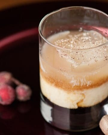This Russian Nog with eggnog, vodka, and kahlua is a fantastic holiday cocktail and is the easiest and best tasting holiday drink you'll find.