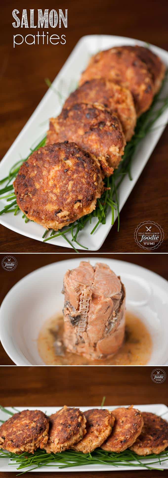 Salmon Patties, made from wild caught canned salmon, are an easy to make dinner time favorite in our house and are the best salmon cake recipe ever!