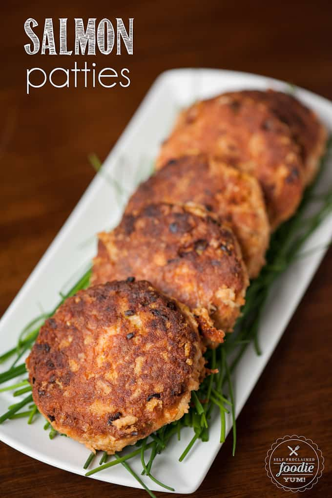 Salmon Patties, made from wild caught canned salmon, are an easy to make absolute dinner time favorite in our house and are the best I've ever tasted.