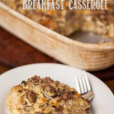 This Sausage Tater Tot Breakfast Casserole is the perfect weekend breakfast any time of year, but my family especially loves it on holiday mornings.