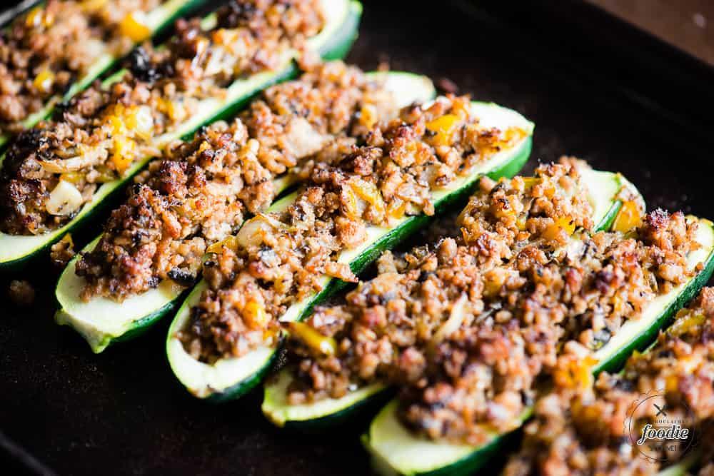 Sausage Zucchini Boats recipe