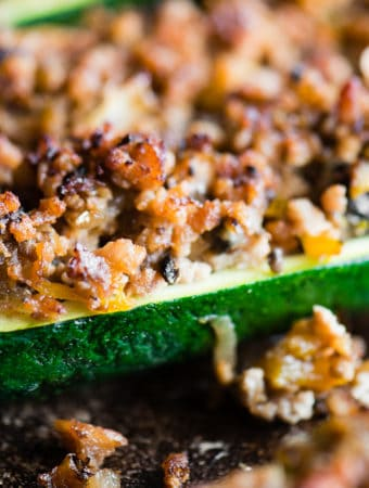Recipe for Zucchini Boats with sausage