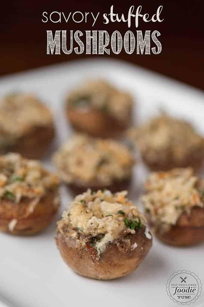 Savory Stuffed Mushrooms | Self Proclaimed Foodie