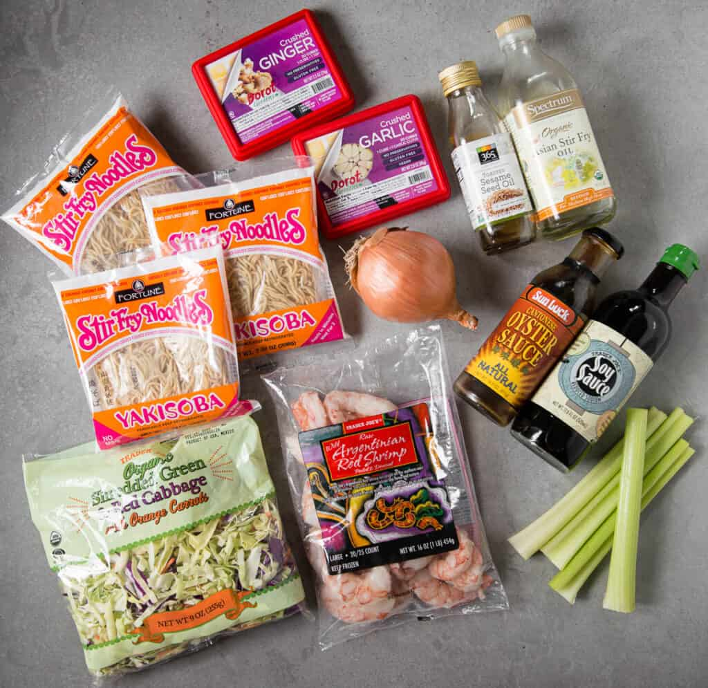 ingredients used to make shrimp chow mein