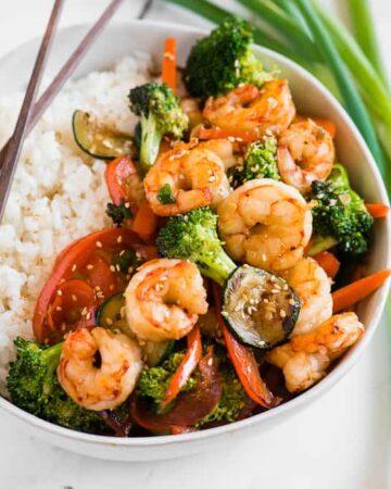 easy shrimp stir fry recipe with rice
