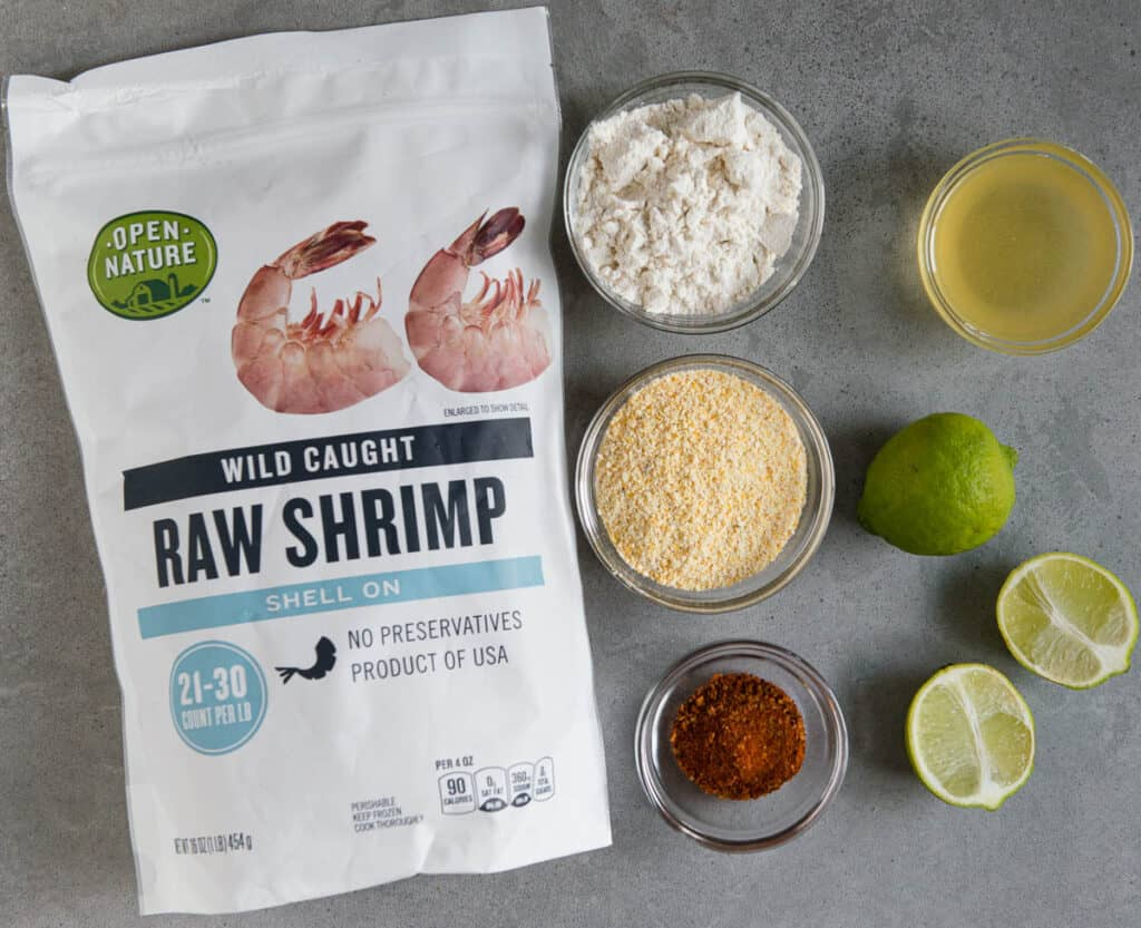 ingredients needed to make Crispy Shrimp Tacos