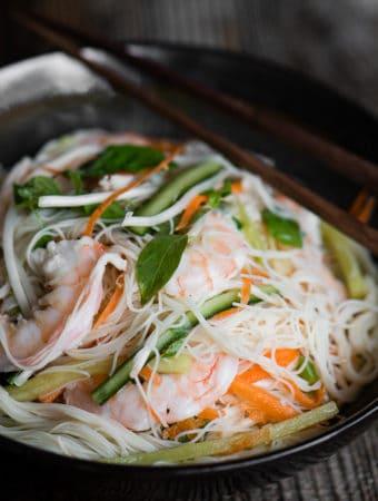 The most delicious Shrimp Vermicelli Salad