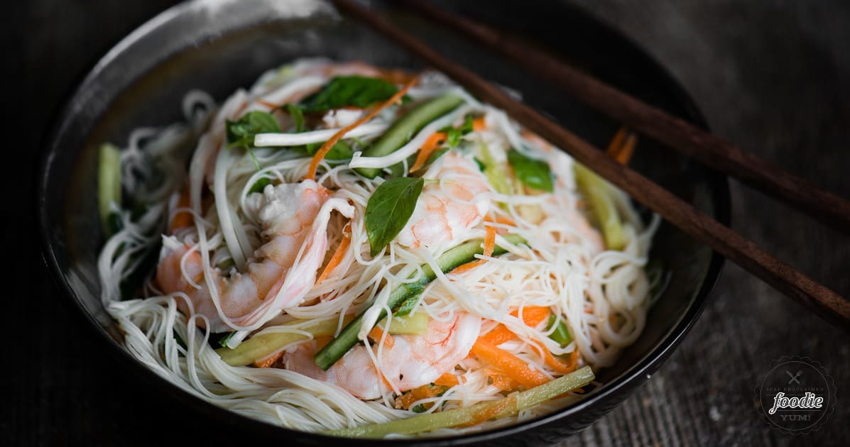 Shrimp Vermicelli Salad Recipe | Self Proclaimed Foodie