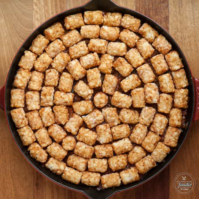 tater tots in a pan