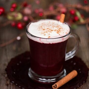 Slow Cooker Berry Cider is a heavenly hot crockpot party punch that's perfect for the holidays made with spiced apple cider and frozen Oregon berries!