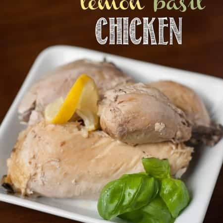 Prepare an easy family dinner by making this Slow Cooker Lemon Basil Whole Chicken. The chicken can be eaten as a main dish or used in other recipes.