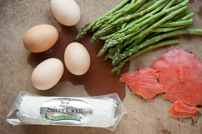 If you're looking for a new way to enjoy your eggs at breakfast, this Smoked Salmon Asparagus Goat Cheese Omelet tastes outstanding and is full of protein.