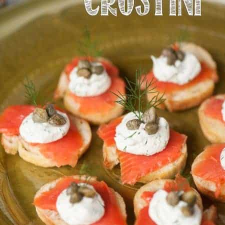 If you're looking for an elegant and tasty yet easy to make appetizer for your next dinner or holiday party, Smoked Salmon Crostini is always a favorite!