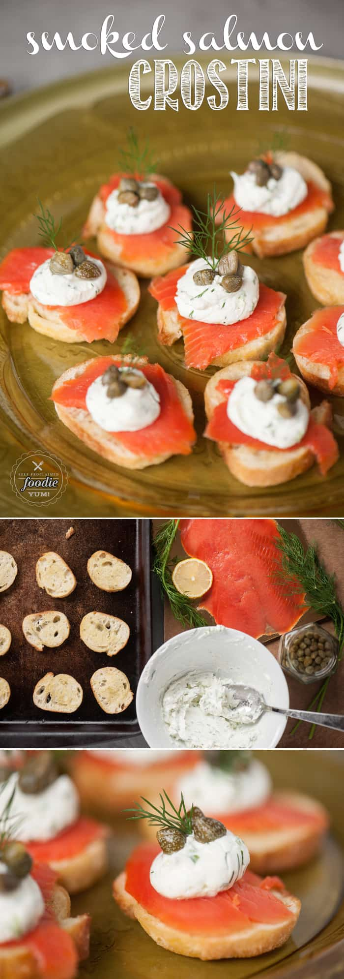 If you\'re looking for an elegant and tasty yet easy to make appetizer for your next dinner or holiday party, Smoked Salmon Crostini is always a favorite!