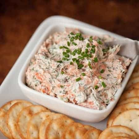 This Smoked Salmon Dip made with hot smoked salmon & bacon has a spicy kick and is an outstanding appetizer as well as an amazing breakfast on a bagel.