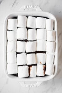 marshmallows on smores dip