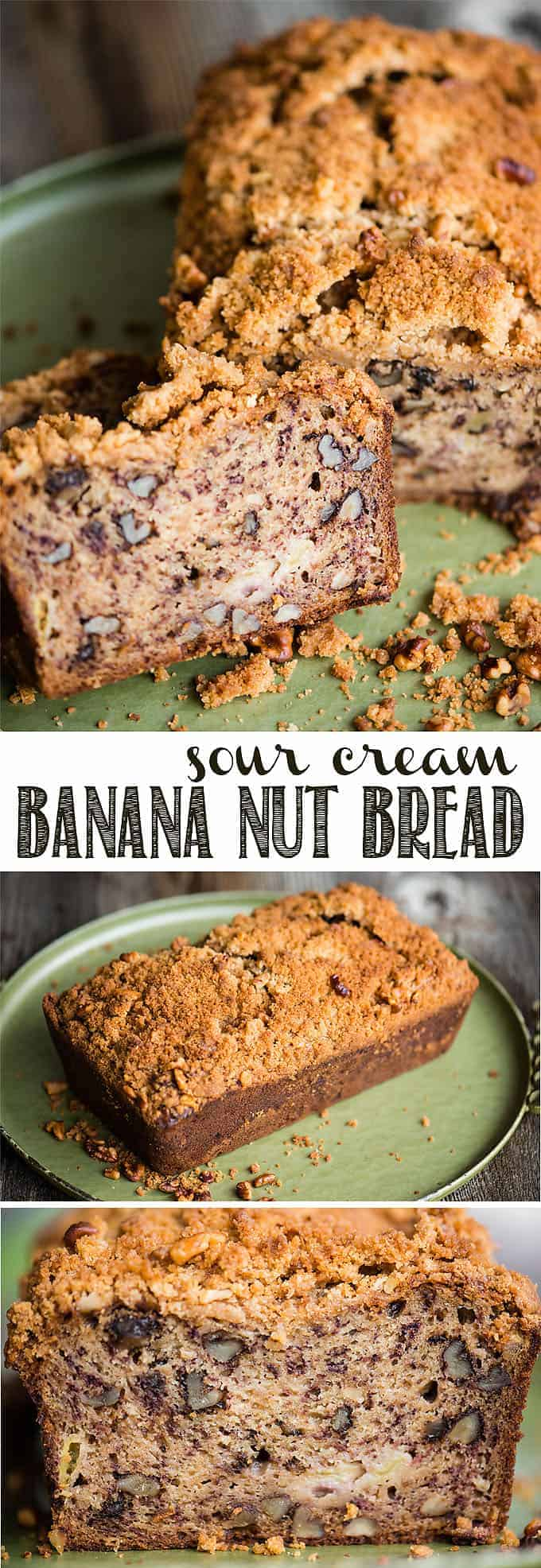 Sour cream banana nut bread self proclaimed foodie sour cream banana nut bread is a super moist banana bread recipe with a crunchy sweet forumfinder Image collections