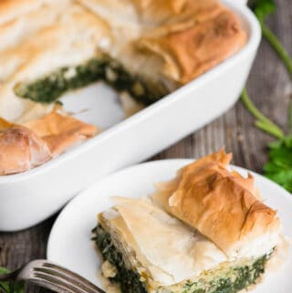 recipe for spanakopita with fresh spinach