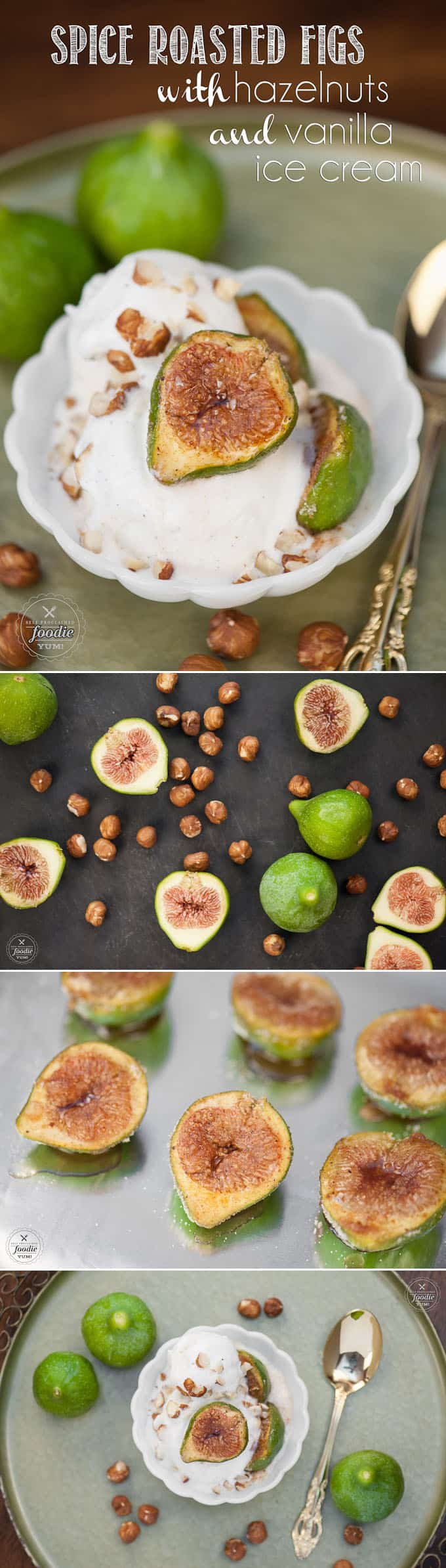 If you are looking for an easy yet sophisticated dessert, Spiced Roasted Figs with Hazelnuts and Vanilla Ice Cream are simply elegant as well as super tasty!