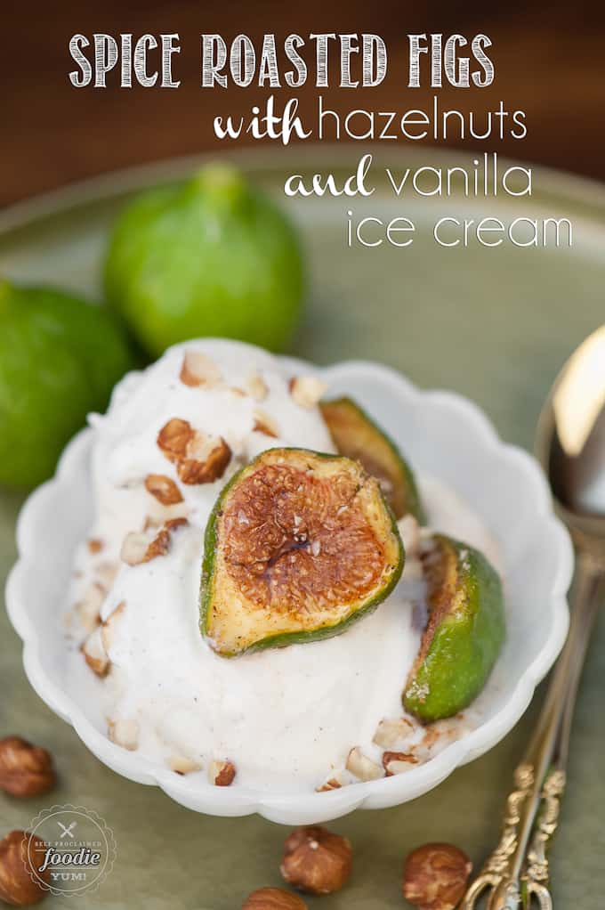 If you're looking for an easy yet sophisticated dessert, Spiced Roasted Figs with Hazelnuts and Vanilla Ice Cream are simply elegant as well as super tasty!