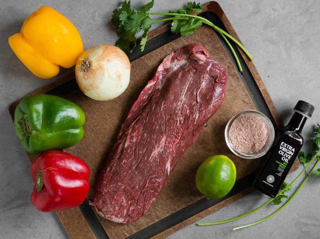 ingredients needed to make Steak Fajitas