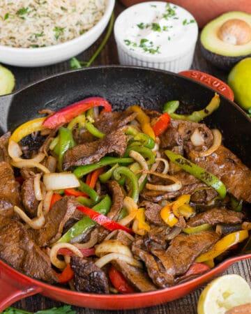 Steak Fajitas with toppings