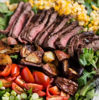 grilled marinated steak salad