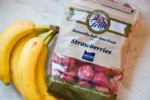 frozen strawberries and bananas
