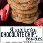the best strawberry chocolate chip cookie recipe