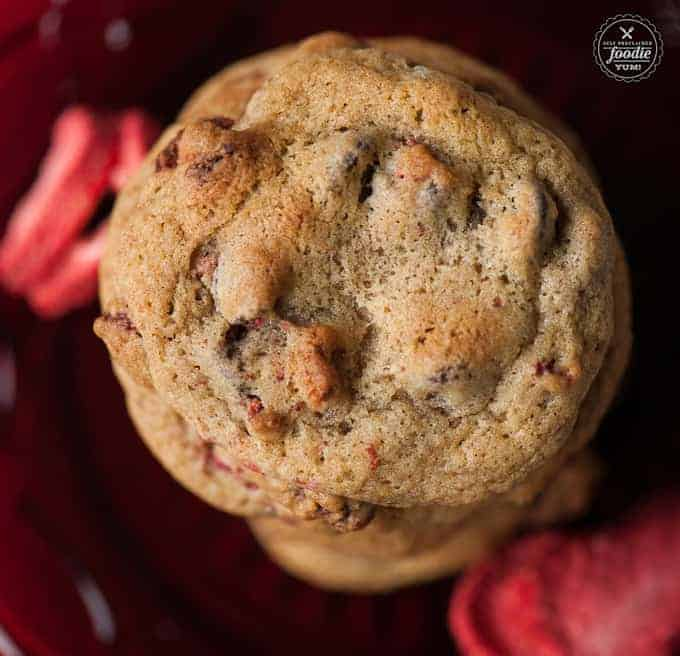 Fewer things go better together than strawberries and chocolate, which is why these chewy Strawberry Chocolate Chip Cookies are the perfect dessert.