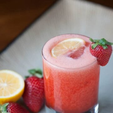 blended Strawberry Lemonade Whiskey Sour