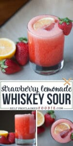 strawberry lemonade whiskey sour