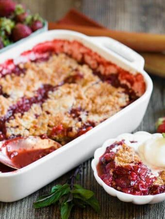 Strawberry Rhubarb Cobbler recipe