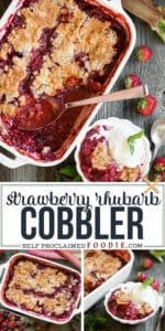 the best recipe for easy Strawberry Rhubarb Cobbler