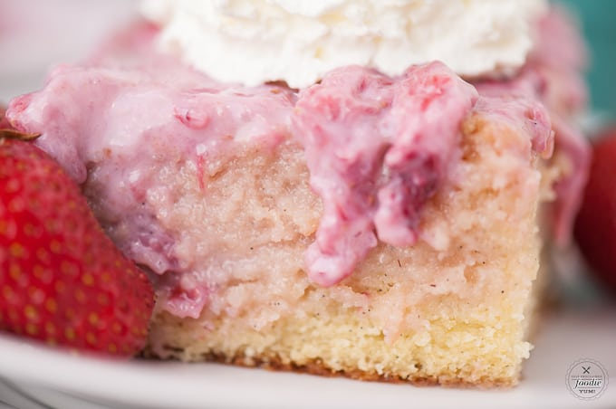 a slice of strawberry shortcake