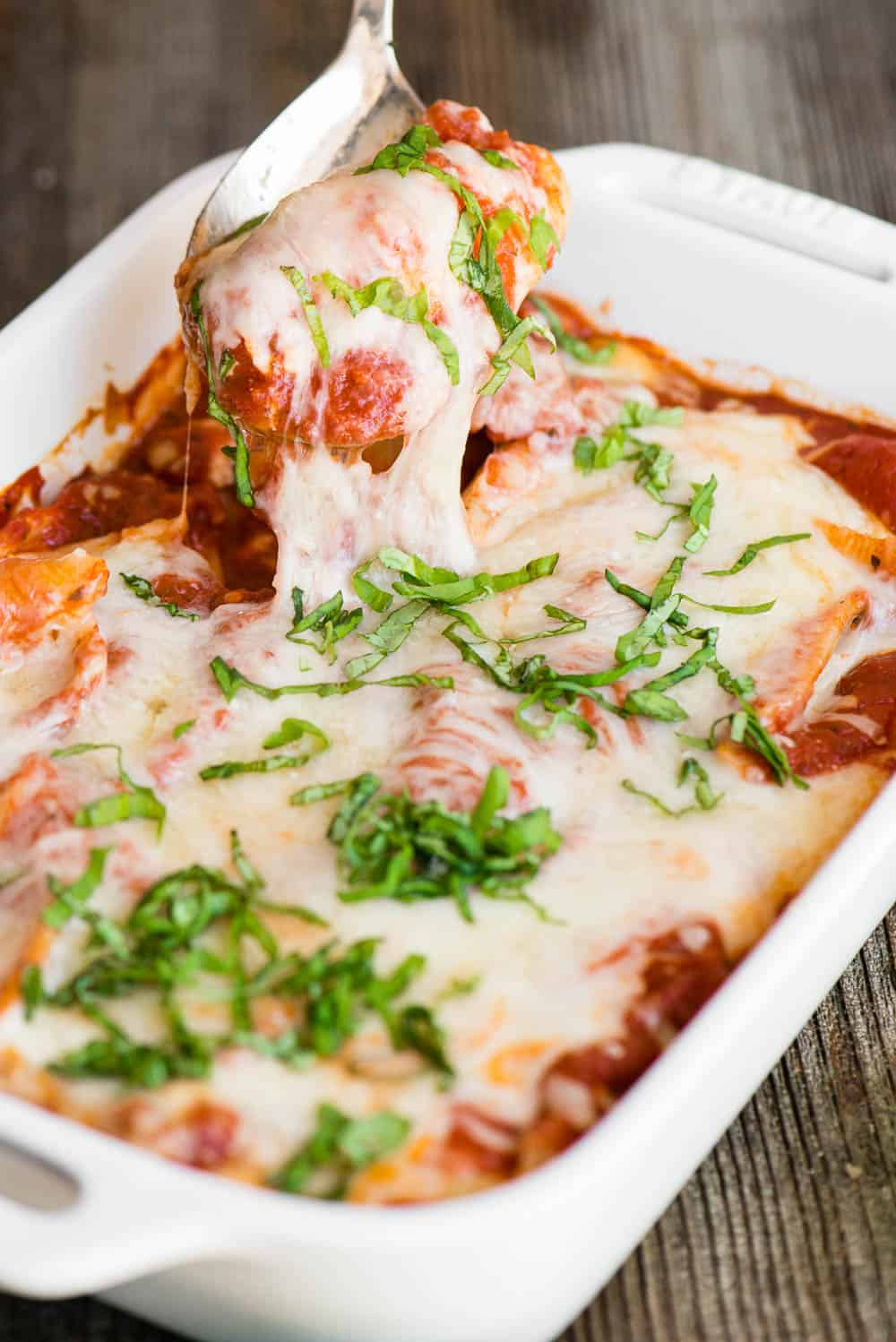 cheesy stuffed shells recipe