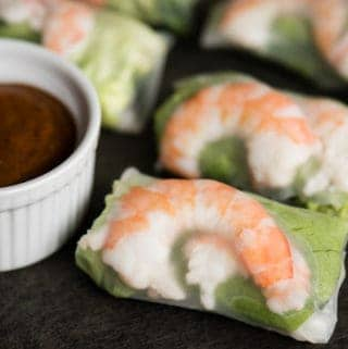 Shrimp Summer Rolls with peanut sauce