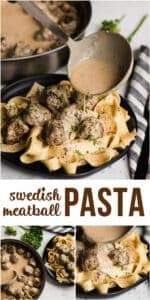 easy dinner recipe for Swedish Meatball Pasta