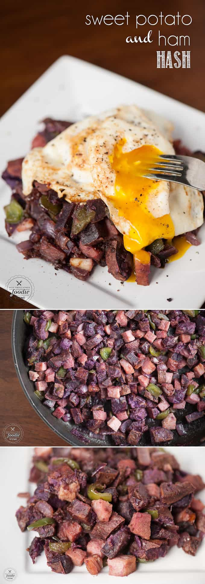 Mix up your breakfast routine and enjoy this hearty and nutritious Sweet Potato and Ham Hash that tastes wonderful with a couple of eggs.